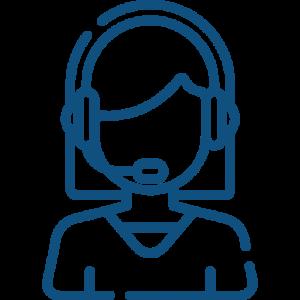 Figure wearing a headset